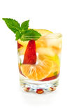 Fruit cocktail in a glass Royalty Free Stock Photography