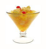 Fruit Cocktail Glass Front  View Stock Image
