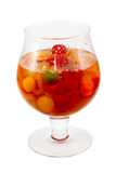 Fruit cocktail in glass Stock Images