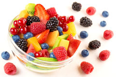 fruit cocktail and mixed berries Stock Photo