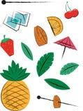 Fruit Cocktail Pieces Stock Image