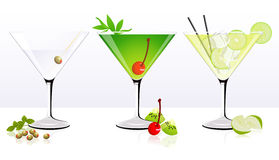 Fruit cocktail set Royalty Free Stock Photography