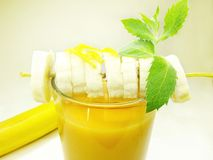 Fruit Cocktail Smoothie With Banana Stock Photos