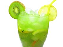 Fruit Cocktail Smoothie With Kiwi Royalty Free Stock Photography