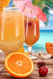 Fruit cocktails Stock Images