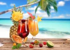 Fruit cocktails Stock Images