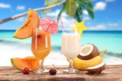 Fruit cocktails Stock Photos