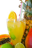 Fruit cocktails. With fruits isolated Stock Photography