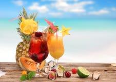 Fruit cocktails Stock Photos