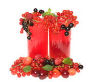 Fruit cocktails with berries Royalty Free Stock Photos