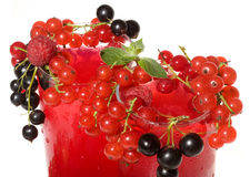 Fruit cocktails with berries Stock Photos