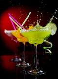 Fruit cocktails stock image