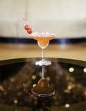 Fruit cocktails. Cocktail in martini glasses in restaurant stock image