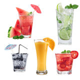 Fruit cocktails collection Stock Image