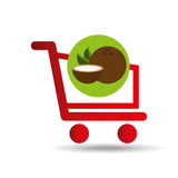 Fruit coconut carry buying icon graphic Royalty Free Stock Photography