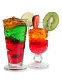 Fruit coctail glass Stock Images