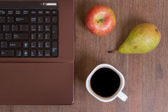 Fruit and coffee Stock Photography