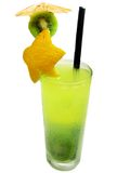 Fruit cold juice drink with kiwi Royalty Free Stock Photo