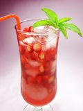 Fruit cold juice drink with wild strawberry Stock Images