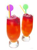 Fruit cold juice drinks with berries Royalty Free Stock Photo