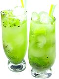Fruit cold juice drinks with kiwi Royalty Free Stock Image