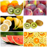 Fruit collage Royalty Free Stock Photo