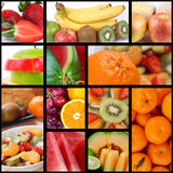 Fruit Collage. Collection of Fresh Fruits, high resolution image of delicious fruits stock image
