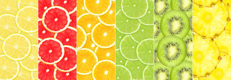 Fruit collage Stock Photos
