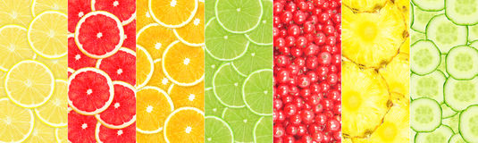 Fruit collage Royalty Free Stock Photography