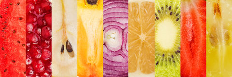 Fruit collage Royalty Free Stock Image