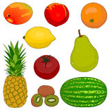 Fruit Collection 1. A collection of 9 assorted fruits Stock Image