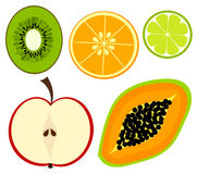 Fruit collection Royalty Free Stock Photos