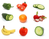 Fruit collection. Collection of fruit and vegetables Royalty Free Stock Photos