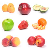 Fruit collection. Isolated on a white background Stock Photos
