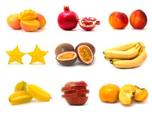 Free Fruit Collection Isolated On White Stock Image - 9017451