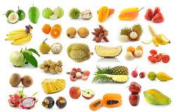 Fruit collection isolated on white Stock Photography