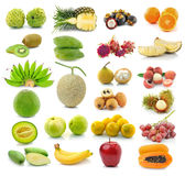 Fruit collection isolated on white Stock Images