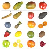 Fruit collection. Realistic 3d render of fruit collection Royalty Free Stock Photography