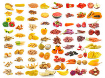 Fruit collection on white royalty free stock photography
