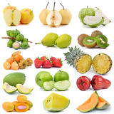 Fruit collection  on white background Royalty Free Stock Image