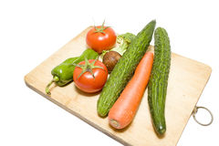 Fruit collection on the wooden cutting board Royalty Free Stock Photography