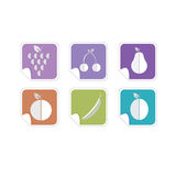Fruit color icon vector Royalty Free Stock Photo