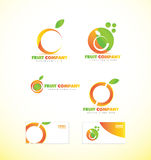 Fruit company orange logo icon Stock Photography
