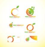 Fruit company orange logo icon Stock Photography