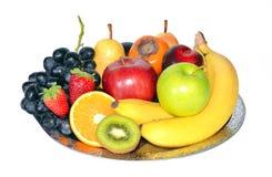 Fruit composition. Isolated on white background stock image