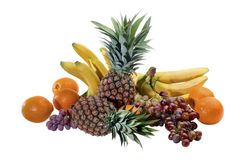 Fruit composition with ananas Stock Image
