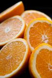 Fruit composition close up oranges Royalty Free Stock Photo