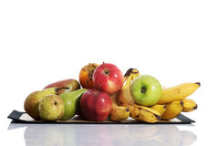 Fruit composition over white. Royalty Free Stock Image