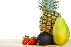Fruit Composition on White Stock Photos