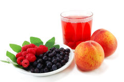 Fruit and compote glass Royalty Free Stock Images